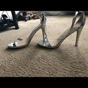 Shoes - Silver Sandal Heels